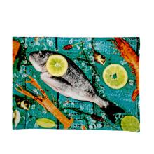 cheap kitchen hand towel/tea towel of silk screen printing cotton