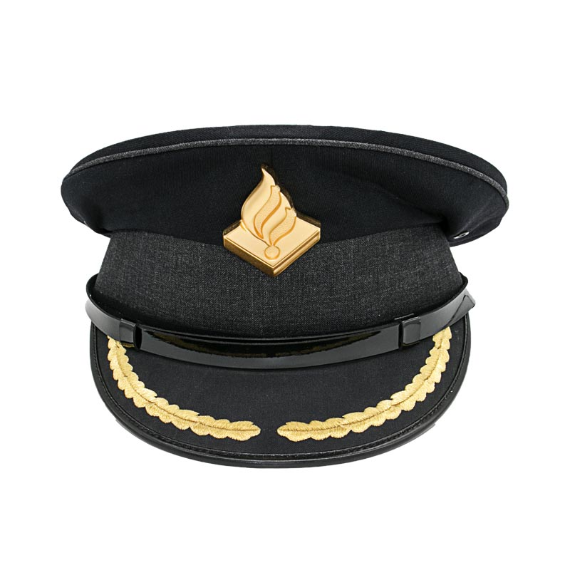 Black Hat Embroidery Patch