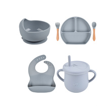 Tableware Suction Bpa Free Manufacturer Spoon Toddlers Infants Supplies Organic Bib Table Baby Plates Sets Silicone Feeding