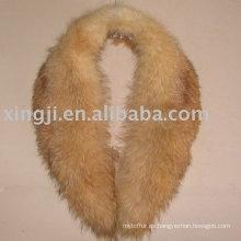 Collar desmontable de piel de mapache