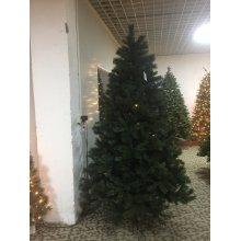 PVC Tips Árbol de Navidad grande con luces LED (azul oscuro)