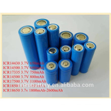 Avaliable ICR18650 primary battery 3.7v in China factory