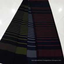 polyester rayon fabric fushan rayon stripe dobby fabric
