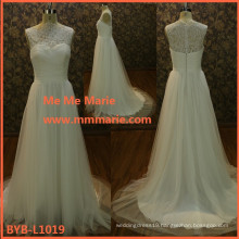 2015 Latest Design Top Quality French Lace Appliquend Wedding Dresses BYB-L1019
