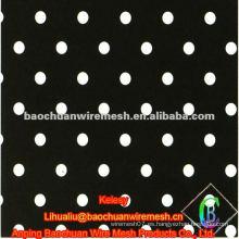 Red de perforación galvanizada negra de la alta calidad con precio razonable en almacén