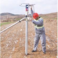 Винтовая свая заземления для системы крепления солнечных батарей в Испании