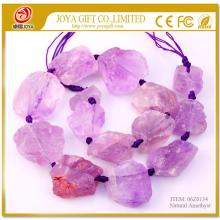Natural Raw Rough Amethyst Jewelry Crystal Gemstone Beads