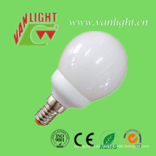Forma de tipo mini globo 9W CFL (VLC-MGLB-9W-A), lámpara ahorro de energía