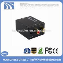 Цифровой оптический коаксиальный коаксиальный Toslink для аналогового аудиоконвертера RCA L / R Audio Converter