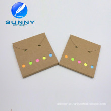 Almofada de memorando de cor difícil Craft, conjunto de nota auto-adesiva