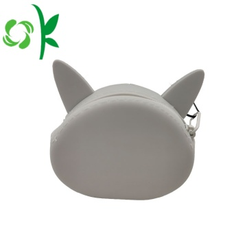 Mini portamonete in silicone 3D Animal Cat