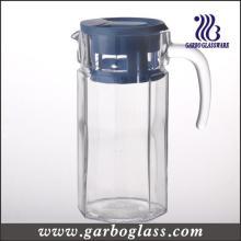 Flacon en verre à eau froide de 1,4L avec couvercle en plastique
