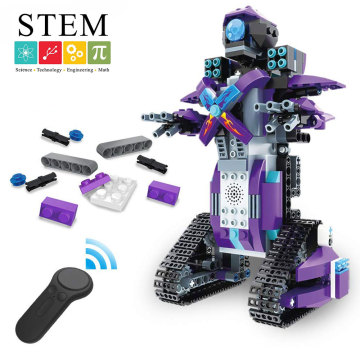DWI RC Building Block Robot Educational Electric Bricks STEM Toys with LED for kids