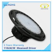 Luz industrial de la bahía del alto UFO LED 100W con el conductor de Meanwell