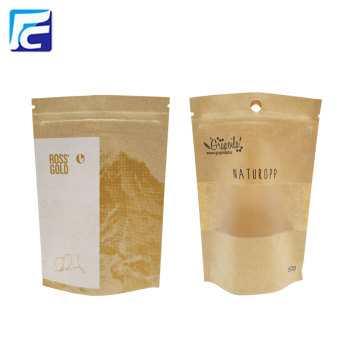 Seeds Package Craft Paper Transparent Zipper Bag