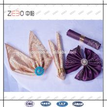 100% poliéster Luxo Jacquard tecido 45 * 45 centímetros de linho guardanapos para o restaurante