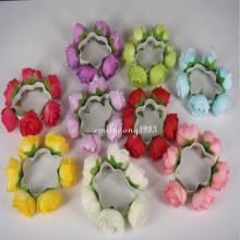 Guirnalda floral de la venda del pelo del nudo de la venda (HEAD-104)