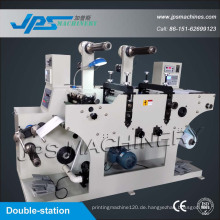 Double-Station Preis Gun Label Die-Cutting Machinery mit Slitting Funcion