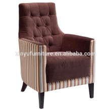 Hotel soft fabric wooden arm chair XYD240