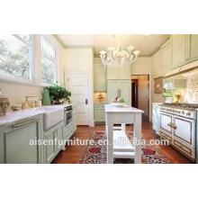 Einfache Design American Shaker Style Massivholz Küchenschrank beliebt für American Market
