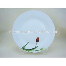 """Atacado branco 10,5 """"placas de jantar de cerâmica, placas de jantar de porcelana"""
