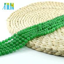 Xulin X000702 China Atacado Verde Rodada Cat Eye Beads para Colar Sintética Cat Eye Stone