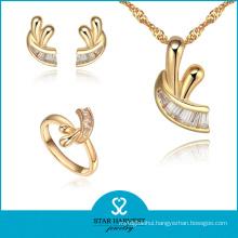2015 Newest Polishing Silver Jewellery Set Sales on Line (J-0055)