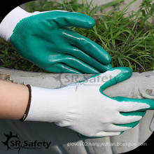 SRSAFETY 13G Polyester knit working gloves with nitrile