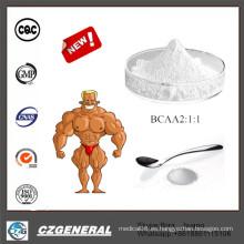Poder del suplemento de la nutrición del levantamiento de pesas de los deportes de la pureza del 99% Bcaa 2: 1: 1