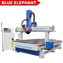 Jinan 1530 Wood Router Machine with Linear Tool Changer Magazine for Engraving Wooden Sculpture