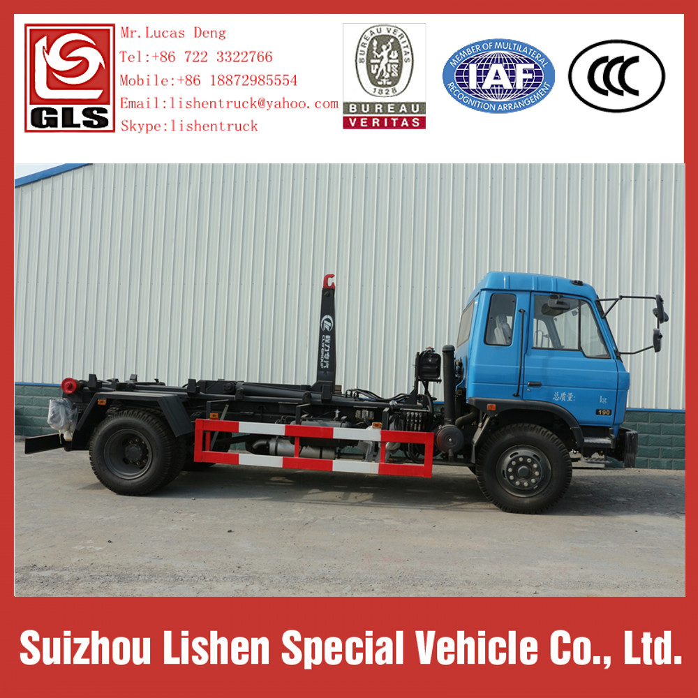 Dongfeng Hook Lift Garbage Truck 190hp