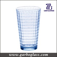 Coupe en eau en verre bleu en forme de vapeur de 12 oz