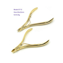 High Quality Sharping Gold Plating Cuticle Nipper Stainless Steel