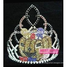 Lindo baile de beleza de cristal princesa tiara de Halloween