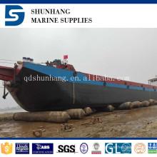 6+1 layers shunhang hot sale marine lifting and landing inflatable rubber airbag