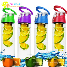 Botella de agua infusor de fruta BPA Free Sports infusión de fruta botella de agua a prueba de fugas