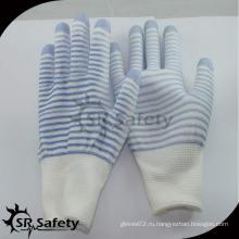 SRSAFETY 13G полиэстер U3 лайнер с покрытием PU на пальцах перчатки смартфона