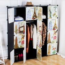 Creative Pattern DIY Armoires en armoire en plastique pour la maison (ZH0020)