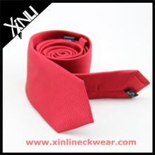 Rot Schwarz Jacquard Woven Großhandel Seide Krawatte Herren Hochzeit Krawatte