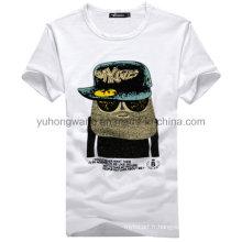 T-shirt imprimé pour hommes en coton de haute qualité