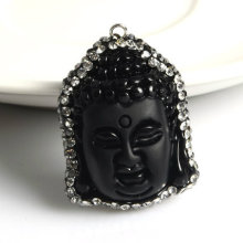 fashion Obsidian Gemstone Pendant Necklace Jewelry Accessory