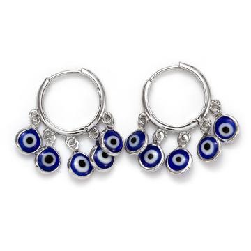 Tassel Beads Drop Dangle Earring Without Piercing For Women Girl Jewelry Evil Blue Eye Earrings
