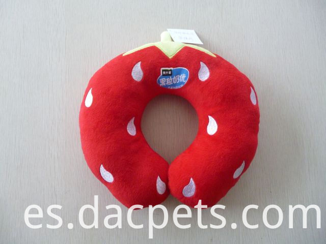 strawberry plush neck pillow
