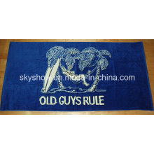 One Side Velour Printed Beach Towel (SST0349)