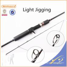 JGR033 venda Quente barato vara de pesca nano luz de carbono jigging haste
