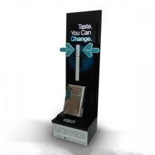 High Acrylic Single Unit Cigarette Display Stand pour affichage du tabac
