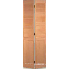 Louver Over Panel Bifold Door Shown in Clear Pine