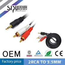SIPU popular digital stereo plug audio video cable 3.5mm to 2rca
