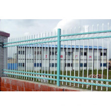 Solid Structure Powder Coated Industrial Steel Fence