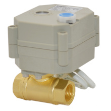 Miniatur-Elektrischer Betätiger Messing-Kugelhahn mit manueller Funktion